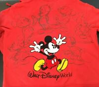 Disney Parks Mickey Mouse Hoodie Sweatshirt Full Zip Graphic Logos Unisex 2XL