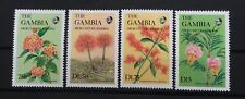 GAMBIA # 687-690.  FLOWERS FROM THE ABUKO NATURE RESERVE. MNH