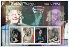 MODERN GEMS - Sierra Leone - Pablo Picasso Paintings - Sheet of 4 - MNH