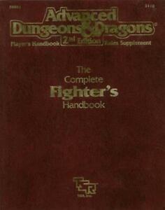 TSR AD&D 2nd Ed Complete Fighter's Handbook (1st) VG+