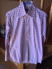 Edoardo Morini Firenze Red Pinstripe Shirt. 40 15-1/2 $249.00
