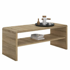 Unbranded Oak Modern Coffee Tables with Shelves