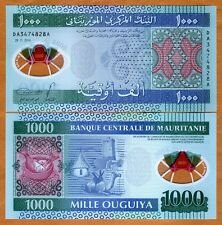 Mauritania, 1000 (1,000) Ouguiya, 2014, P-19, UNC   POLYMER