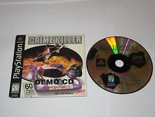 Crime Killer (PlayStation 1, 1998) Disc w/ Slip Cover