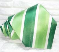 Cravatta Verde Uomo Nuova 100% seta Top quality Made in Italy marca Morgana