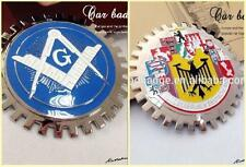 2x Masonic & Deutschland Germany Cities Flag Car Grill Emblems  Badges  Lot of 2