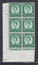 Great Britain Sg 618 Mnh. 1965 1sh 3p Wilding Cylinder block 2., scarce