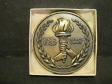 1988 Olympic Bronze Paperweight - Contribution - USOC Fund Raising - w/ Box