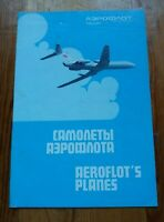 Advertising Brochure of aeroflot airplanes Soviet Airlines AEROFLOT USSR RARE