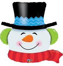 "36"" Inch 91 cm Qualatex Balloon Shape Foil Christmas Snowman Party Child Merry"