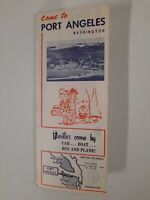 PORT ANGELES WASHINGTON brochure 1960s 1950s Vintage OLYMPIC PENINSULA