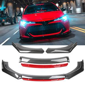 For Toyota Corolla SE XSE Front Bumper Spoiler Lip Splitter Chin Carbon Fiber
