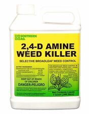 Southern Ag 2,4-D Amine Weed Killer Selective Broadleaf Weed Control, 32oz -1 QT