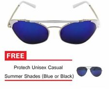 Vula Summer Shades Retro Sunglasses Unisex Eyewear Eyeglasses Bundle (Blue)