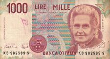 BANCONOTA ITALIANA DA 1000 LIRE MONTESSORI SERIE KB SC-7