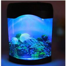 US LED Artificial Jellyfish Aquarium Lighting Fish Tank Night Light Lamp