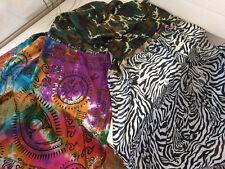 PLOMO O PLATA PATCHWORKSCHAL / Tuch XXL BAUMWOLLE SEIDE Camouflage / Zebra / bun
