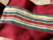 """VINTAGE FRENCH 4 7/8"""" Striped XMAS RIBBON 1yd HOLIDAY made in France"""