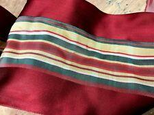 "Vintage Acetate 4 7/8"" Stripe Taffeta Ribbon 1yd Made in France"