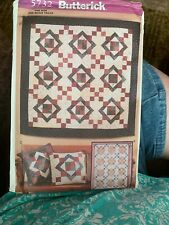 New uncut Butterick sewing pattern 5732 Aunt Nancy's quilt & pillow craft hobby