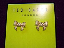 TED BAKER GROSGRAIN BOW STUD PIERCED EARRINGS RIBBON BOW