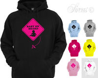 NEW BABY ON BOARD DESIGNER HOODIE HOODY MATERNITY ALL SIZES 8 10 12 14 16 18 20