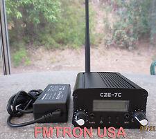 CZE-7C 5w,7w  FM stereo broadcasting transmitter + power adapter + antenna