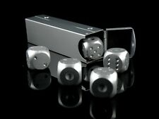 5 pcs Five Aluminium Toy Game D6 6 Side Dice Tube Handy Case Portable Party GIFT