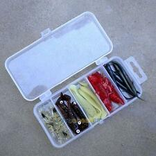 Transparent Plastic Fishing Lure Bait Box Storage Organizer Container Case  LS4G