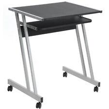 Scrivania porta computer base metallo tastiera scorrevole tavolo pc con ruote