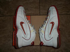 100% AUTHENTIC 2005 NIKE AIR MAX PENNY 1 WHITE RED SHOES OG DB BIN JORDAN