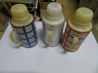 3x Ostalgie Trinkwasserbehälter, Wasserflaschen, russische Produktion retro, F 3