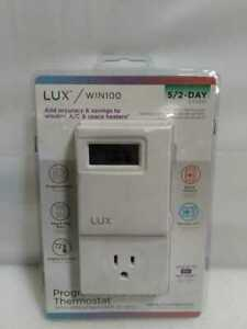 5-2-Day Outlet Programmable Thermostat by Lux