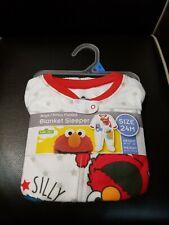 Sesame Street Boys Footed Microfleece Blanket Sleeper Size 18 Months NEW
