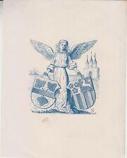 Ex-libris héraldique anonyme, non identifié (fin XIXème).