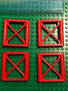 LEGO Technic 4 x Bridge Support 1x6x5 Girder Rectangular RED  Railway / Train