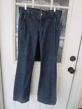 genuine Seven 7 For All Mankind dark wash trouser wide leg jeans size 33.5W 32L