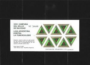 Argentina 1985 Tuberculosis Christmas Campaign MNH Superb condition !