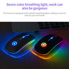 2.4GHz Wireless Rechargeable Optical Mouse Mice For PC Laptop Computer