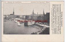 (107713) AK Hamburg, Am Jungfernstieg, Sammelbild Myrrholin Welt Panorama, vor 1