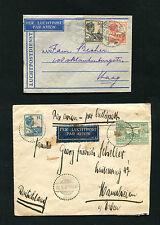 Niederl. Indien - 4 Lupo Briefe nach Europa  1931 - 1936  (DK5)