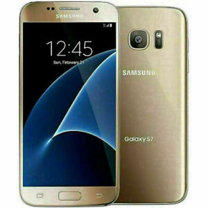 "5.5"" Android Phone Samsung Galaxy S7 AT&T G930 4+32GB Gold Unlocked Smartphone"