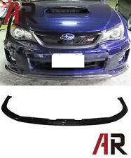 Carbon Fiber 2011-2012 Subaru Impreza WRX / STI CS1 TYPE Front Bumper Lip CF
