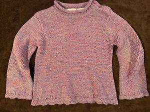 Girls Purple Sparkle Sweater FADED GLORY Size 4T knit Sweater