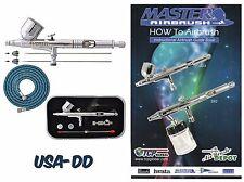 Automotive Airbrush Paint Spray Gun Kit Gravity Feed Auto Air Brush Machine Car