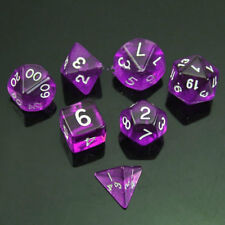 RPG Polyhedral 7 Sided Die D4 D6 D8 D10 D12 D20 &DRAGONS D&D RPG Dice Game Set