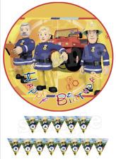 Sam le Pompier Deco Gateau Disque Azyme Comestible Anniversaire 20 cm