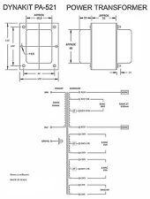 POWER TRANSFORMER DYNACO ST-70 2x360V 300mA 2x 6,3V 5A 5V 4A *OFFERTA*