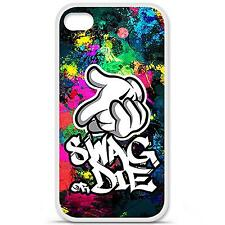 Coque housse étui tpu gel motif swag or die Iphone 4 / 4S