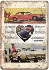 """1967 Ford Mustang Hardtop Convertible Ad 10"""" x 7"""" Reproduction Metal Sign A26"""